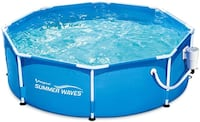 """BRAND NEW UNOPENED Summerwaves 8'x30"""" Frame Pool with Filter Pump!"""