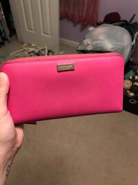 pink leather Michael Kors wristlet Bristow, 20136