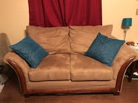 brown fabric 2-seat sofa Ozark, 65721