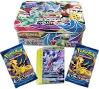 Pokemon card new tins, trainer boxes, packs cards all unopened