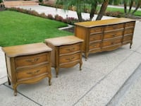 French provincial dresser and nightstands-2