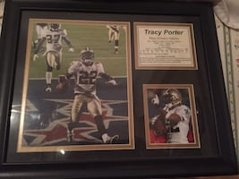 Tracy porter framed photo autographed