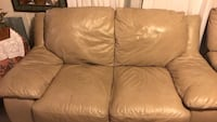 brown leather 3-seat sofa Downey, 90242