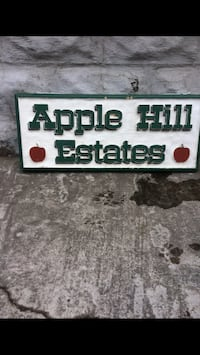 """Old Apple Orchard Sign ( 32"""" long by 13"""" High ) ."""