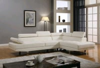 NEW - White Leather Sectional Washington, 20012