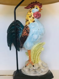 Glass Rooster Lamp