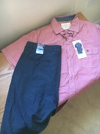 Brand new men's button down and shorts  Hamilton, L8E 0B6
