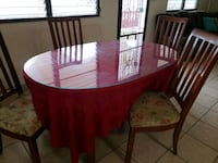 Wooden table with four chairs dining s Bayamón, 00957