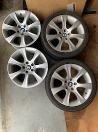 BMW 18 x 8.5 OEM WHEELS 3/5series STYLE 162 GREAT CONDITION (2 TIRES) Fort Washington, 20744