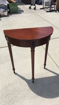 round brown wooden side table Wake Forest, 27587