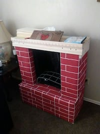 Fake fire place. Decoration.  Bakersfield