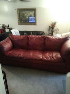 Full REAL leather couch.