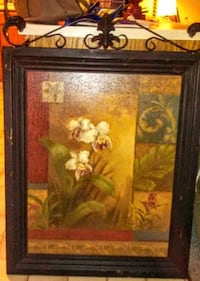 "Large rustic frame 40""x35"" contemporary orchids Brownsburg, 46112"
