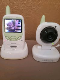 Mobile video baby monitor with belt clip