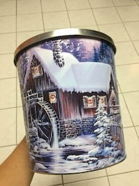 Tin can for popcorn cookies or candy only $10 TORONTO