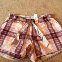 red, white, and black plaid shorts Sherwood Park, T8A 5Y1