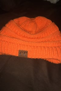 Orange Pony beanie toque