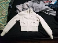 Forever 21: White Leather jacket Anchorage, 99503