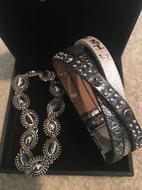 2 Magnetic Clasp Bracelets- all things are possible enscription