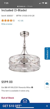 Chandelier ceiling fan/light