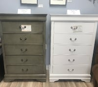$199 a piece - One grey chest - One white chest available -  Brand New Wilmington