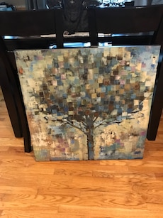 multi-color tree painting