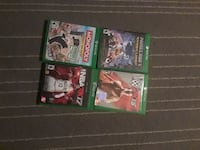 4 Xbox One games Waterbury, 06705