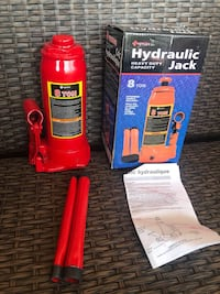 Heavy Duty Hydraulic Bottle Jack, 8 Ton Capacity BNIB   Brand new in the box.  Many available for purchase... Shipping is also available.   Hydraulic bottle jack designed for residential and commercial use; Serrated, heat treated saddle provides generous  Toronto
