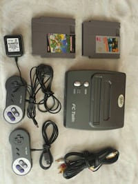 Fctwin console with 2 games 2 controller and game Markham, L6B 0B4