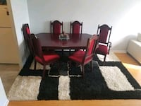 Solid cherry wood handcraft dining table with 6 chairs has to go ASAP Toronto, M6M 5G9