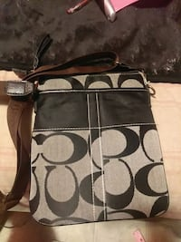 brown and black Coach monogram shoulder bag Edmonton, T5X 3V4