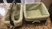 Pottery Barn Kids kids wicker baskets with fabric lining Mississauga, L5V 1J3