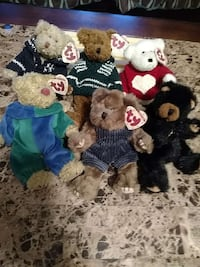 Collectible Ty bears jointed w/polyfill