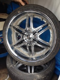 "20"" x 10"" wide universal chrome rims Tillsonburg, N4G 4E5"