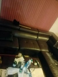 black leather 3-seat sofa Silver Spring, 20901