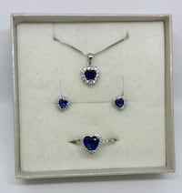 September gemstone earrings and necklace Edmonton, T6L 5M7