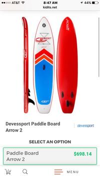 """DV Sport inflatable paddle board 10'2"""" foot brand new"""