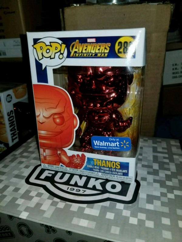 Red chrome thanos exclusive funko pop (FIRM PRICE)