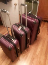 3 SUITCASES HARD SHELL VERY GOOD QUALITY FROM EUROPE VERY SOLID