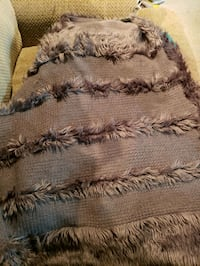 Large grey knitted poncho