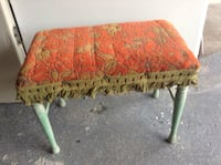 red and green floral fabric padded bench Johnstown, 15905