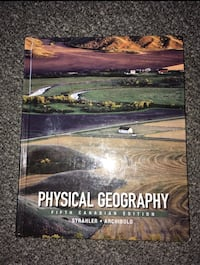 Physical Geography Fifth Canadian Edition Saskatoon, S7K