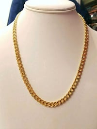 "20"" 5mm 14K Gold Plated Cuban Chain  Mississauga"