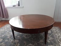 Large wooden round coffee table with secret drawer Montréal, H2P 2G8