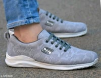pair of white-and-gray Skechers running shoes Moradabad, 244001