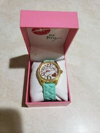Betsey Johnson Womens Mother of Pearl Dial Gold To Milford, 06460