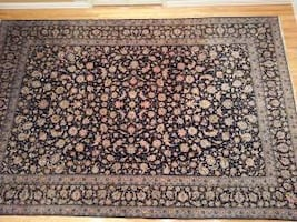 Handmade hand knotted antique signed wool Persian rug