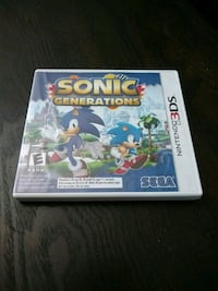 Sonic Nintendo 3DS game case Chatham-Kent, N7L 4P6
