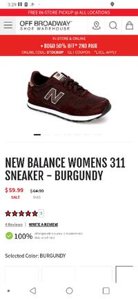 New Balance Woman's Shoes 311 Burgundy Almost New Travelers Rest, 29690