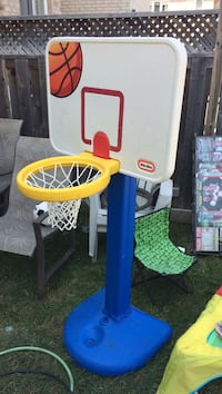 white, blue, and yellow Little Tikes basketball hoop Vaughan